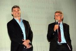 Fabien Pelous, directeur sportif du Stade Toulousain et Guy Novès, ancien entraîneur du Stade Toulousain et actuel sélectionneur de l'équipe de France.