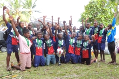 PDC 2016: Première participation et première place pour le collège du Rocher au championnat interscolaire de l'île Sainte Marie en mars 2016. The pupils of the Rocher school won the cup for their first participation at the inter-school football competition on the Saint Marie island in March 2016.